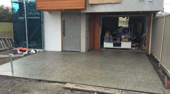 Blog exposed aggregate driveways melbourne for Pouring your own concrete driveway